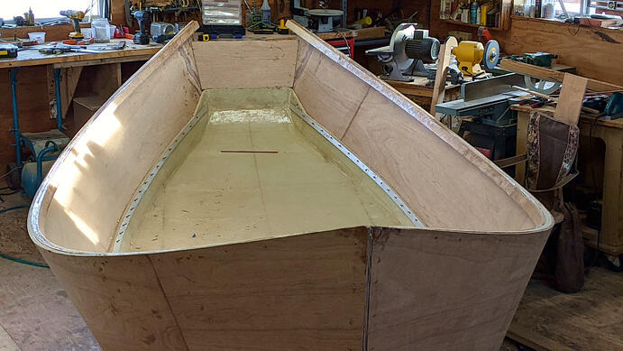 hull roughed in